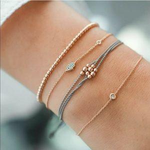 Evil Eye hamsa layering bracelet set